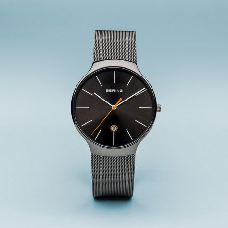 Black & Grey Quartz Watch with Date Frühjahr / Sommer Kollektion Bering