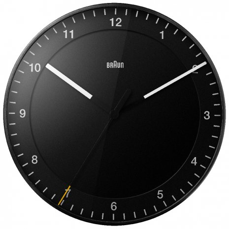 Braun Black Clock Quartz Uhr