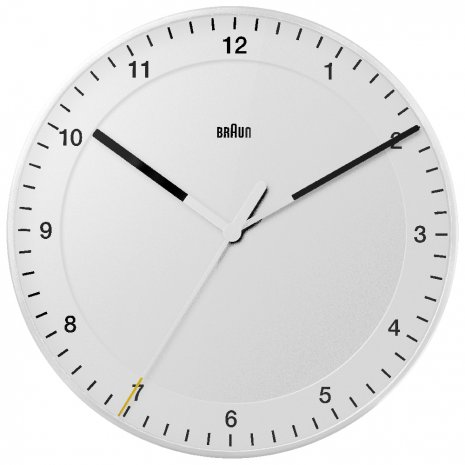Braun Wall Clock Quartz Uhr
