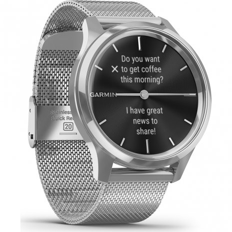 Stainless Steel Hybrid Smartwatch with hidden touchscreen Frühjahr / Sommer Kollektion Garmin