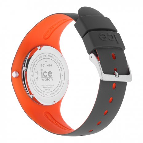 Anthracite & Orange Silicone Watch Size Medium Frühjahr / Sommer Kollektion Ice-Watch