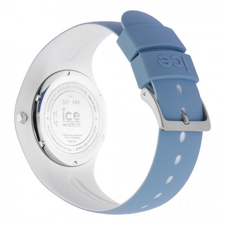 Blue & White Silicone Watch Size Medium Frühjahr / Sommer Kollektion Ice-Watch