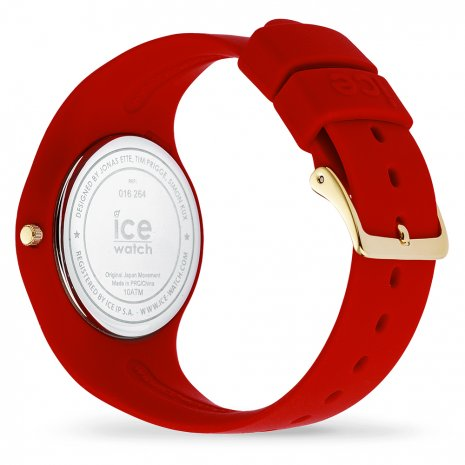 Red & Gold Silicone Watch size Medium Herbst / Winter Kollektion Ice-Watch