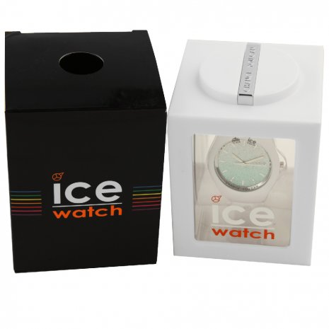 White Ladies Watch with Crystals Size Small Frühjahr / Sommer Kollektion Ice-Watch