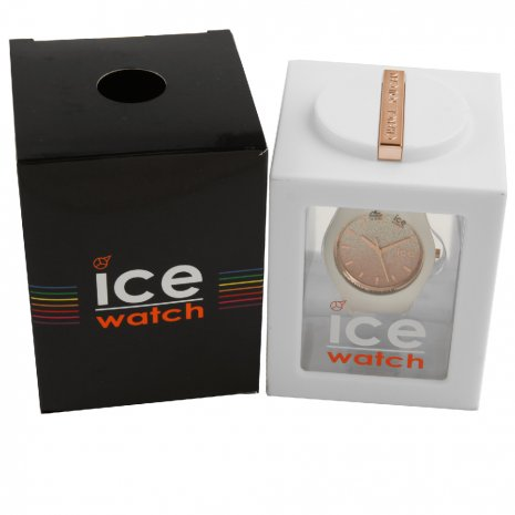 White Ladies Watch with Crystals Size Medium Frühjahr / Sommer Kollektion Ice-Watch