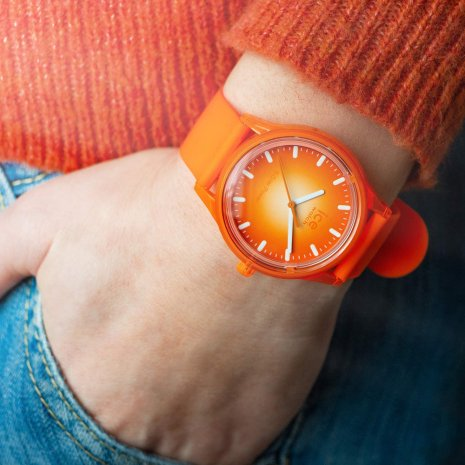 Orange solarbetriebene Quarzuhr Frühjahr / Sommer Kollektion Ice-Watch