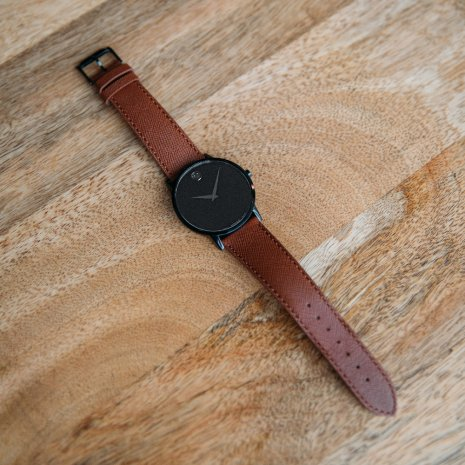 Black Gents Watch with Concave Dot Herbst / Winter Kollektion Movado
