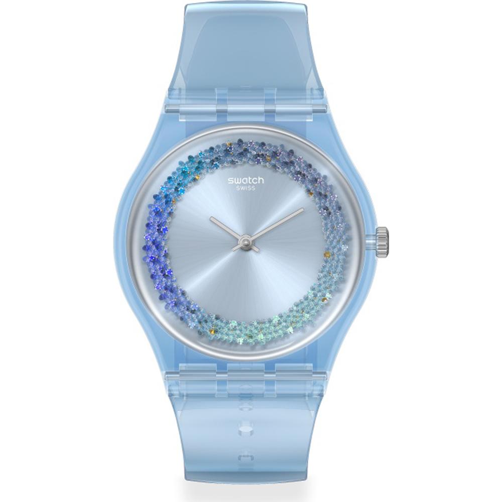 blaue uhr swatch sommer
